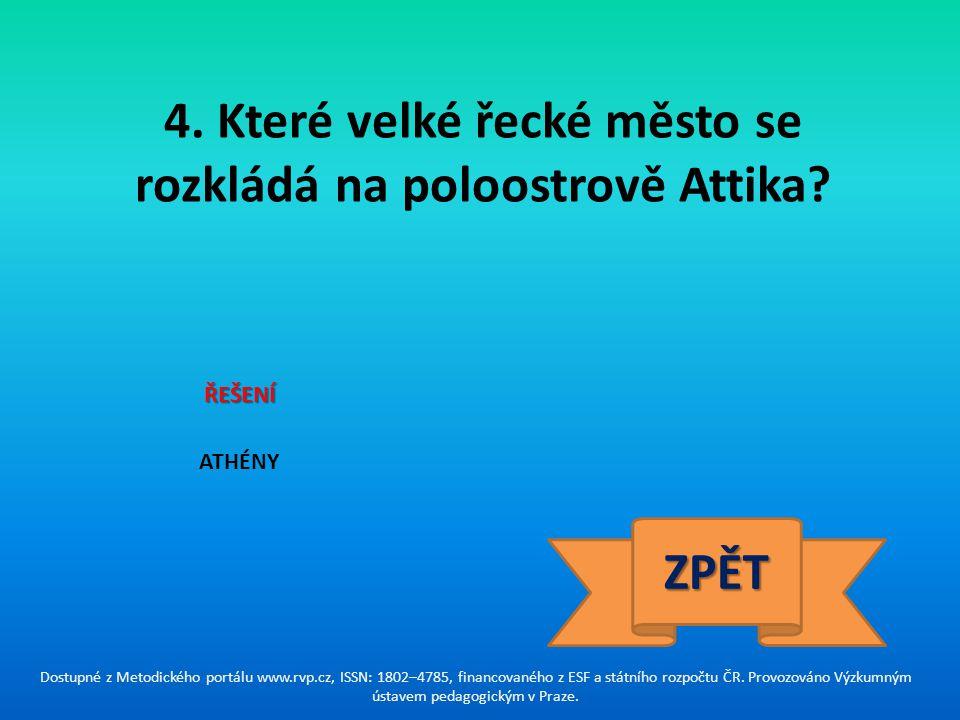5.Který orientální stát se stal hlavním konkurentem Řecka v 5.
