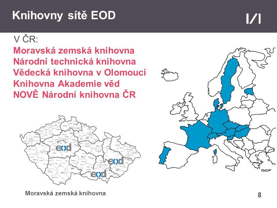 19 Webová stránka služby a projektu EOD www.books2ebooks.eu