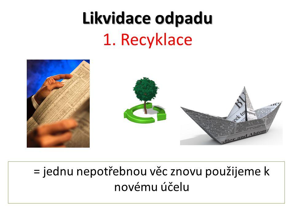 Likvidace odpadu Likvidace odpadu 1.
