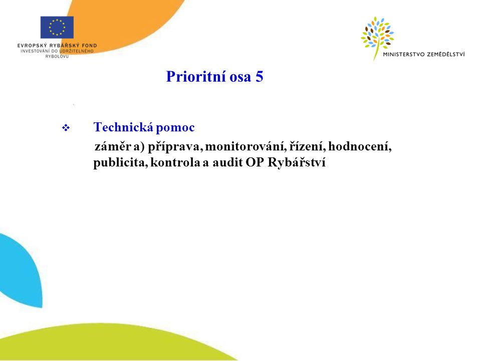 Dotační výzvy OP Rybářství 2008 1.výzva: červen 2008 – opatření 2.1.