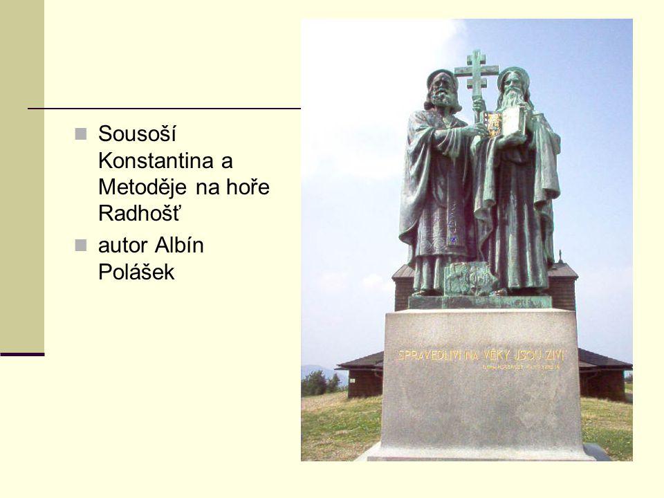 Sousoší Konstantina a Metoděje na hoře Radhošť autor Albín Polášek