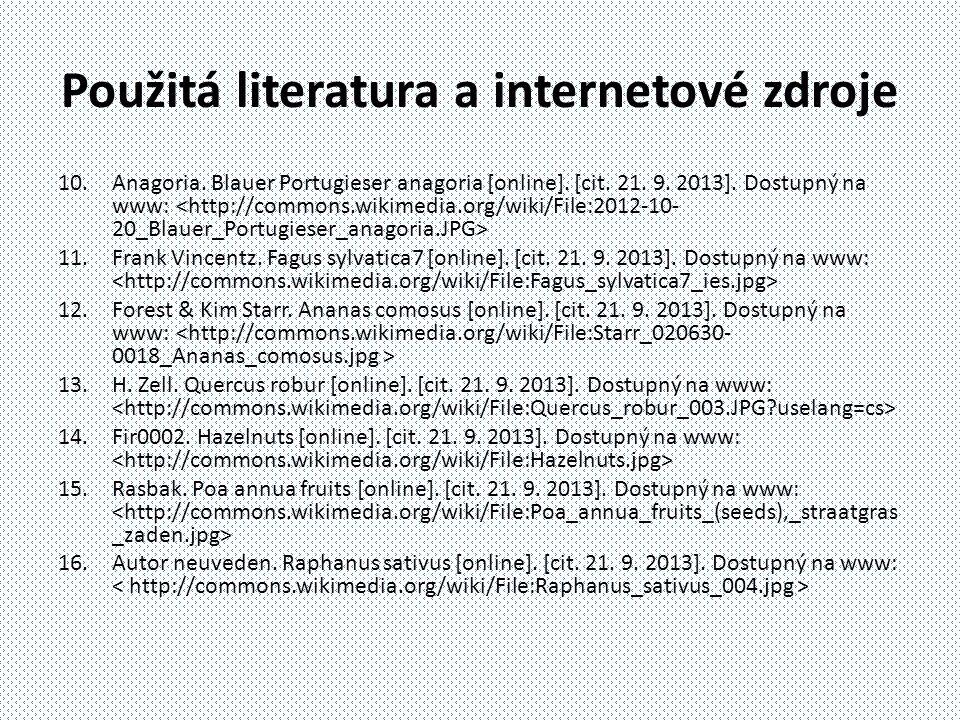 10.Anagoria. Blauer Portugieser anagoria [online]. [cit. 21. 9. 2013]. Dostupný na www: 11.Frank Vincentz. Fagus sylvatica7 [online]. [cit. 21. 9. 201