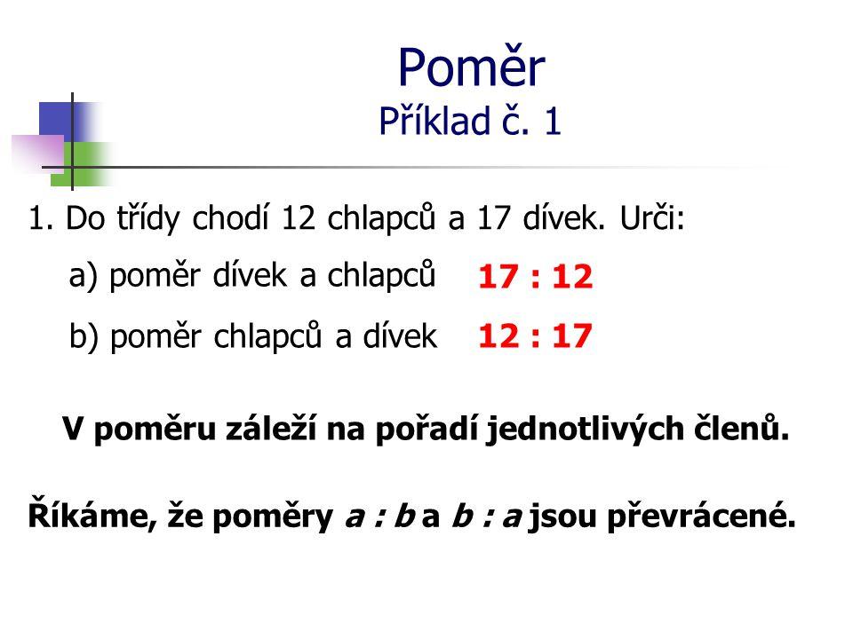 Poměr Příklad č.2 2.