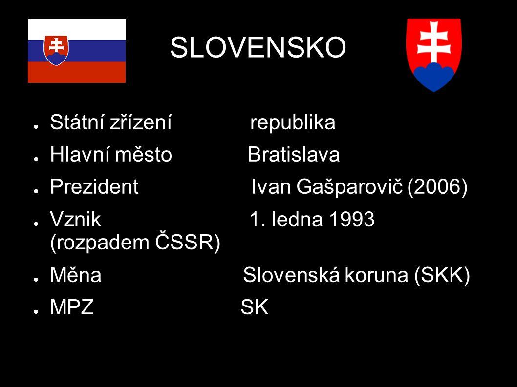 Poloha ● Vnitrozemský stát ● Východní soused České republiky