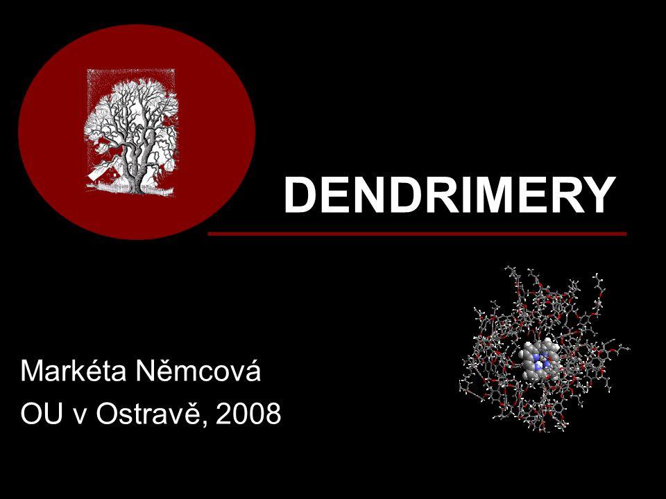 SYNTÉZA dendrimerů Aplikací předešlých syntetických postupů rychle narůstá molekulová hmotnost a samozřejmě i velikost jednotlivých dendrimerních generací.