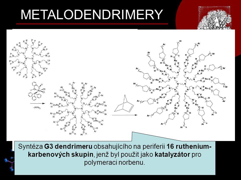METALODENDRIMERY Polysilanový metalodendrimer s bimetalickými AuFe 3 clustery na periferii, vykazující velmi dobrou rozpustnost v organických rozpoušt