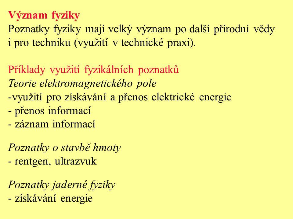 METODY FYZIKY Podle metod práce lze dělit fyziku na experimentální a teoretickou.