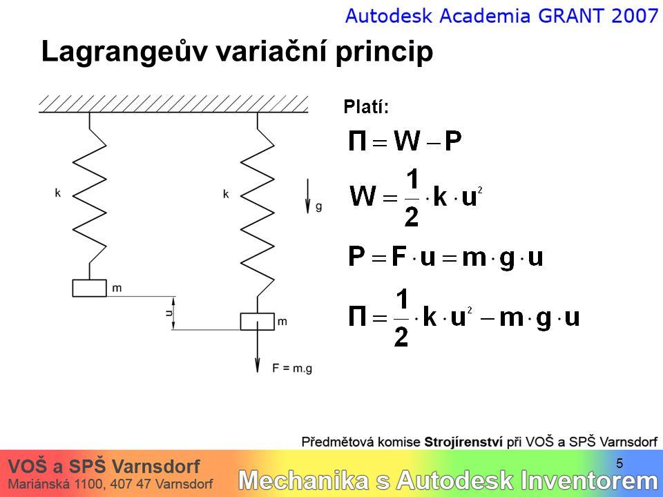 5 Lagrangeův variační princip Platí: