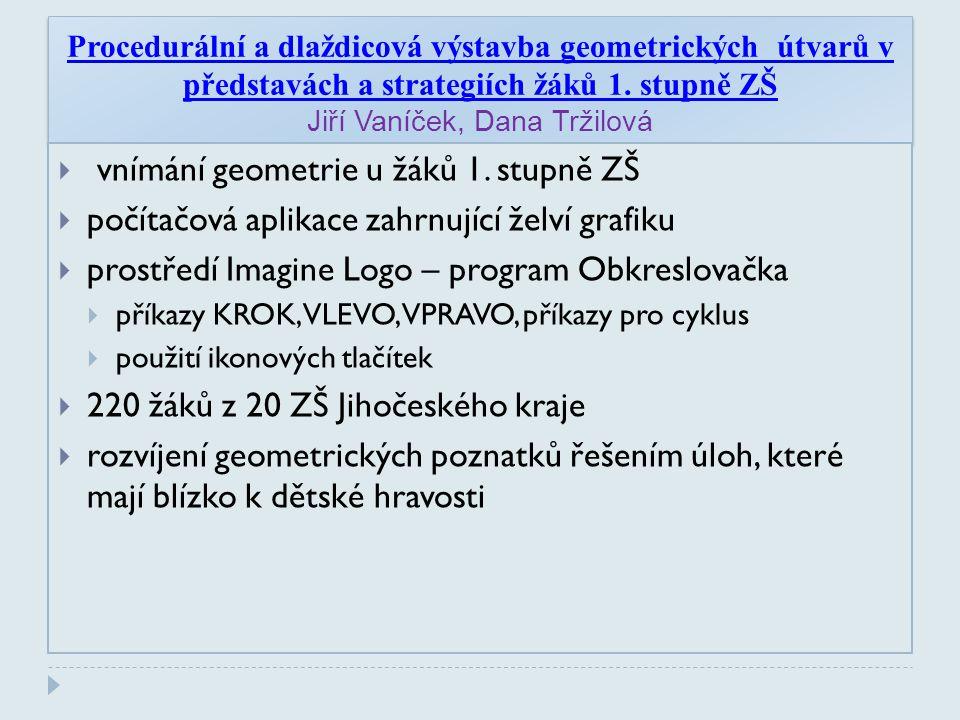 Procedurální a dlaždicová výstavba geometrických útvarů v představách a strategiích žáků 1.