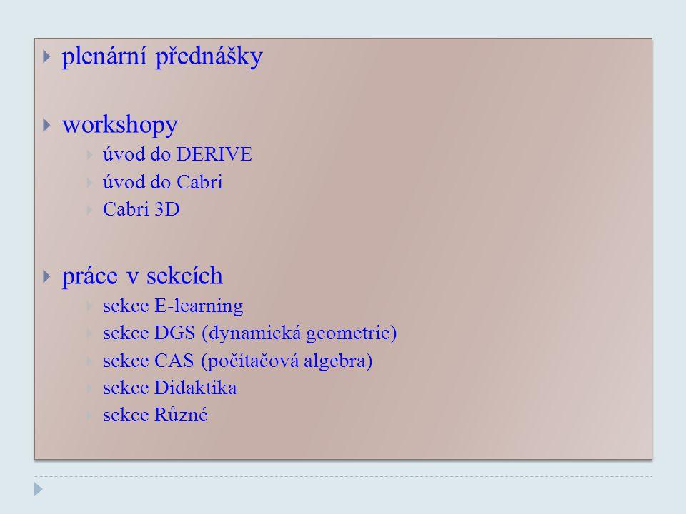 PLENÁRNÍ PŘEDNÁŠKY  RNDr.Miroslav Lávička, Ph.D.