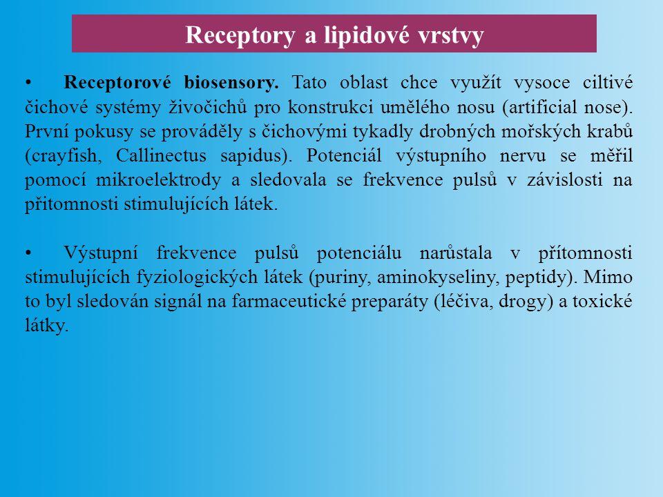 Receptory a lipidové vrstvy Lipidové vrstvy.