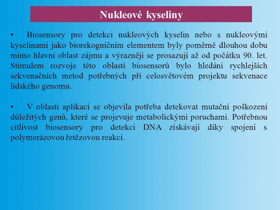 Aplikace biosensorů pro detekci DNA určování příbuzenských vztahů: HLA komplex, oblast D-smyčky mitochondriální DNA, délkový polymorfismus (VNTR místa).