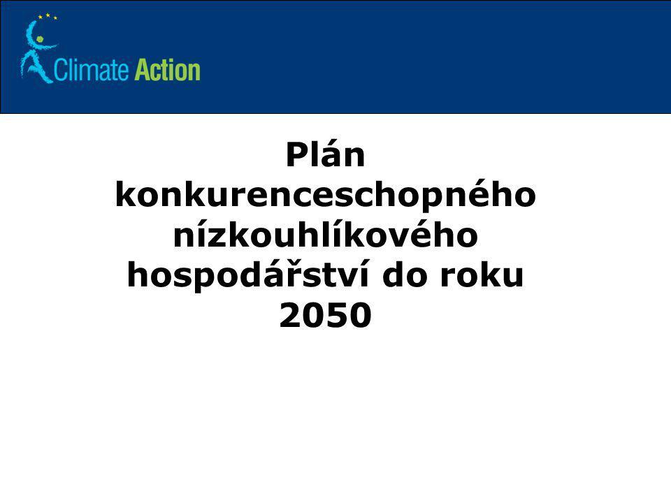 10 Plán konkurenceschopného nízkouhlíkového hospodářství do roku 2050