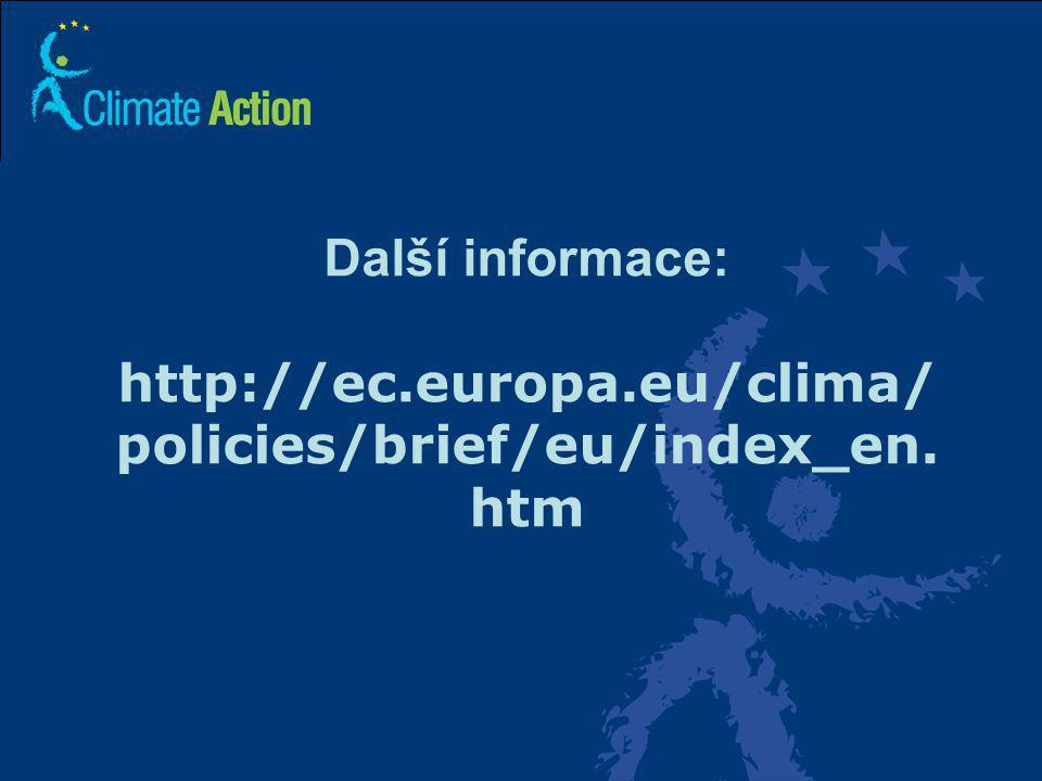 30 Další informace: http://ec.europa.eu/clima/ policies/brief/eu/index_en. htm