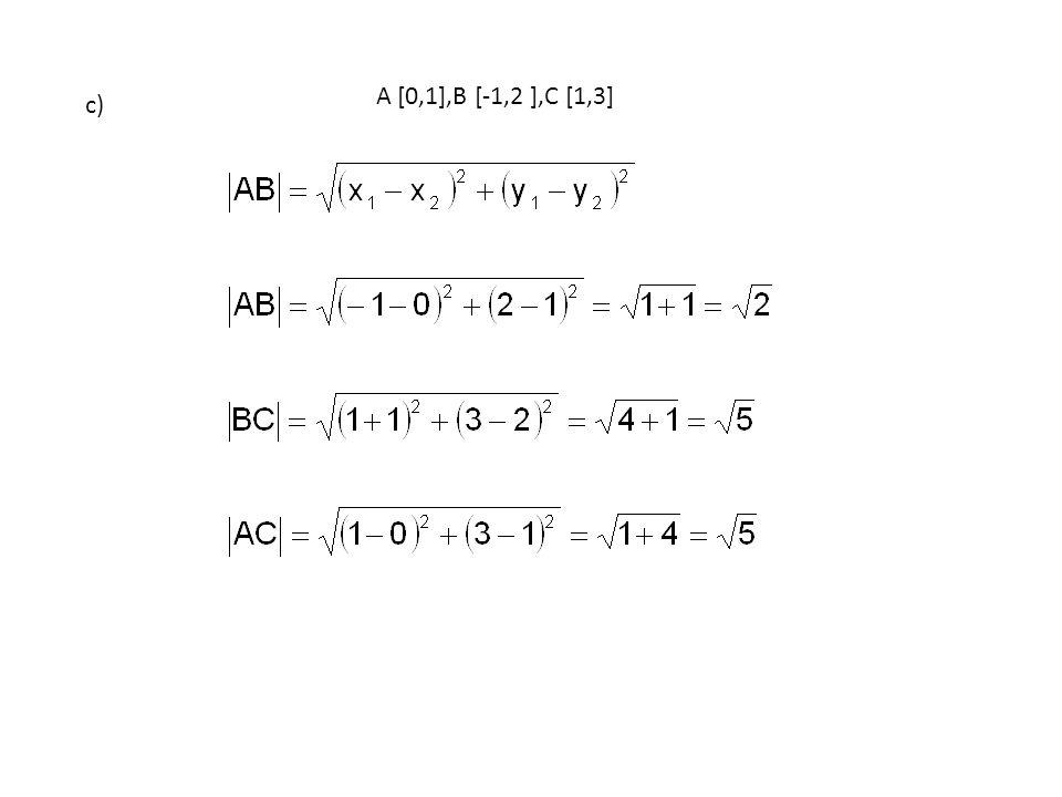 Jakým způsobem můžeme vypočítat obsah trojúhelníku ABC ? d)