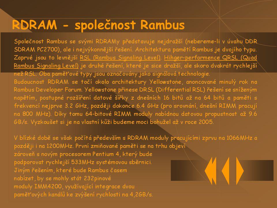 RDRAM - společnost Rambus