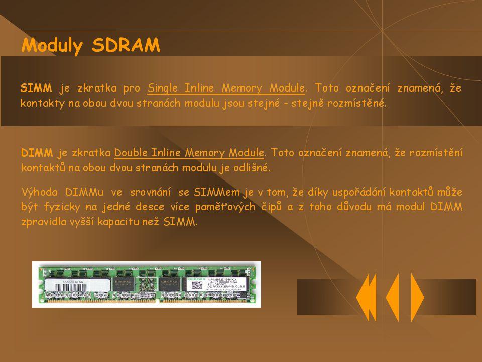 Moduly SDRAM