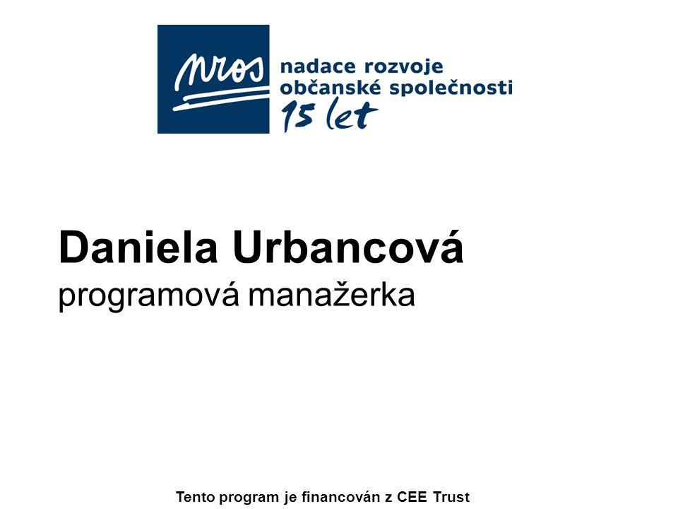 Daniela Urbancová programová manažerka
