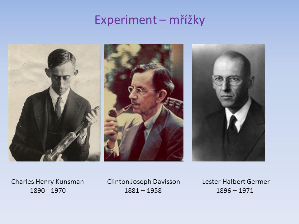 Experiment a teorie – vlny a mřížky Walter Maurice Elsasser 1904 - 1991 Hans Albrecht Bethe 1906 – 2005