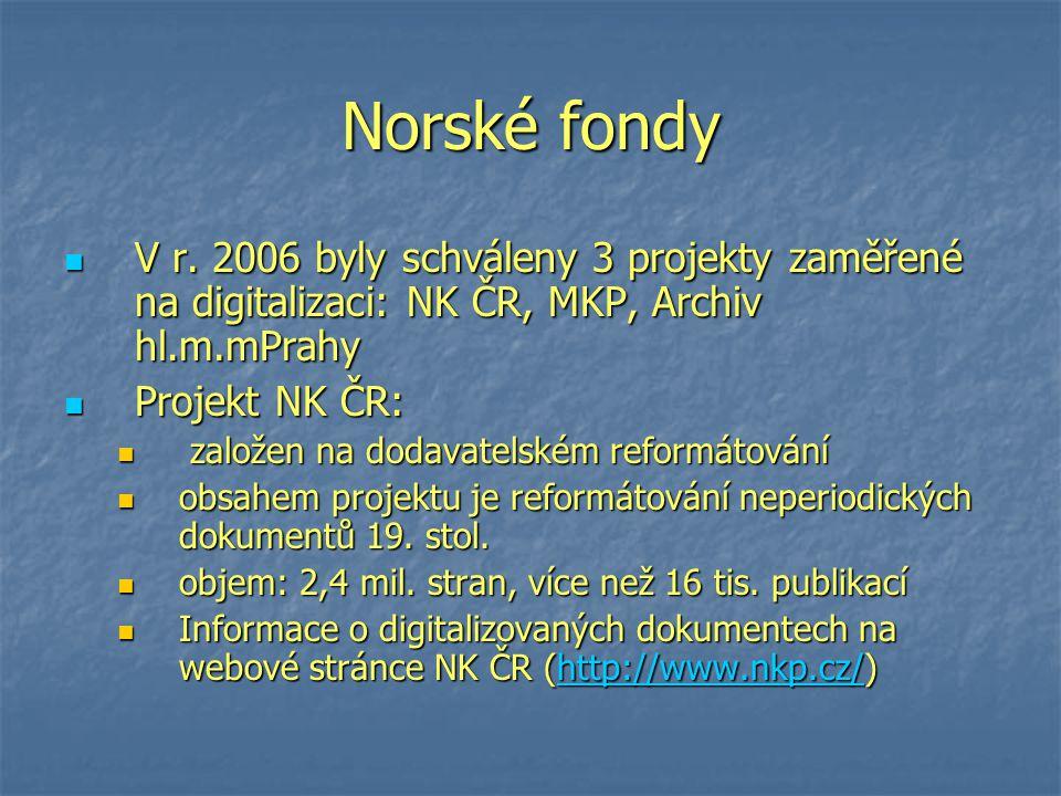 Norské fondy V r.