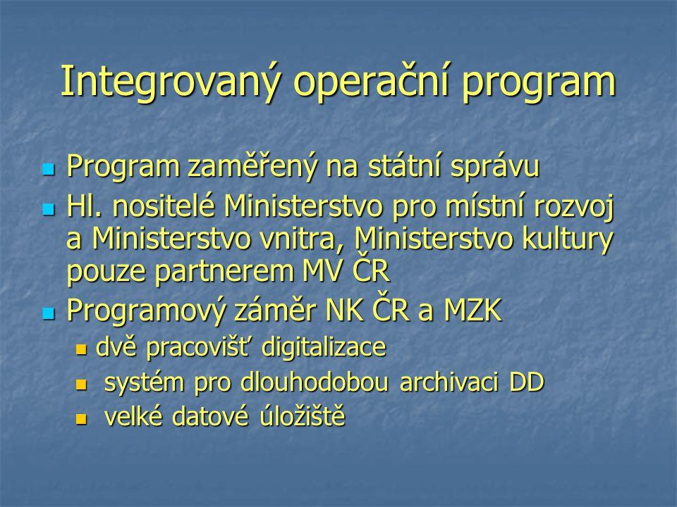 Pracoviště digitalizace NK ČR Kapacita cca 54 000 stran denně (přibližně 250 svazků), 13,5 mil.