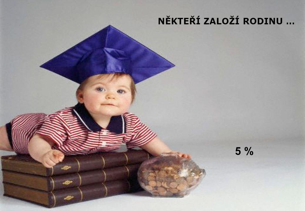 NĚKTEŘÍ ZALOŽÍ RODINU … 5 %