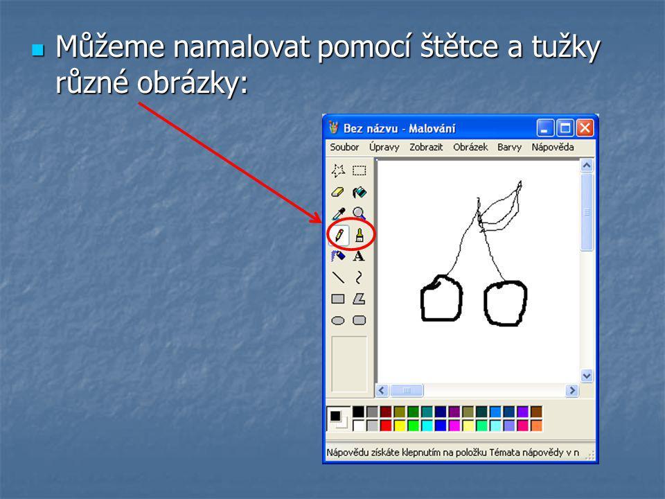 Můžeme namalovat pomocí štětce a tužky různé obrázky: Můžeme namalovat pomocí štětce a tužky různé obrázky: