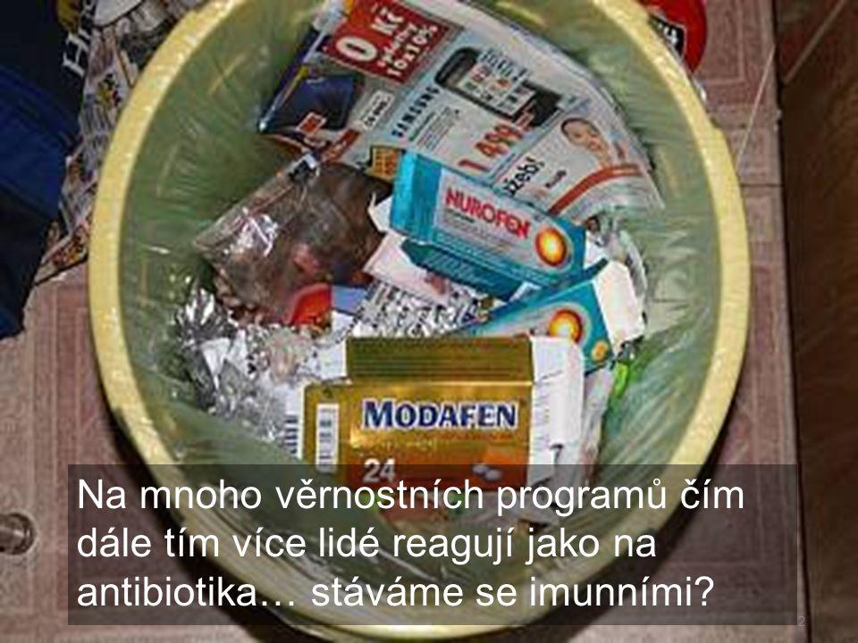 Na mnoho věrnostních programů čím dále tím více lidé reagují jako na antibiotika… stáváme se imunními? 2