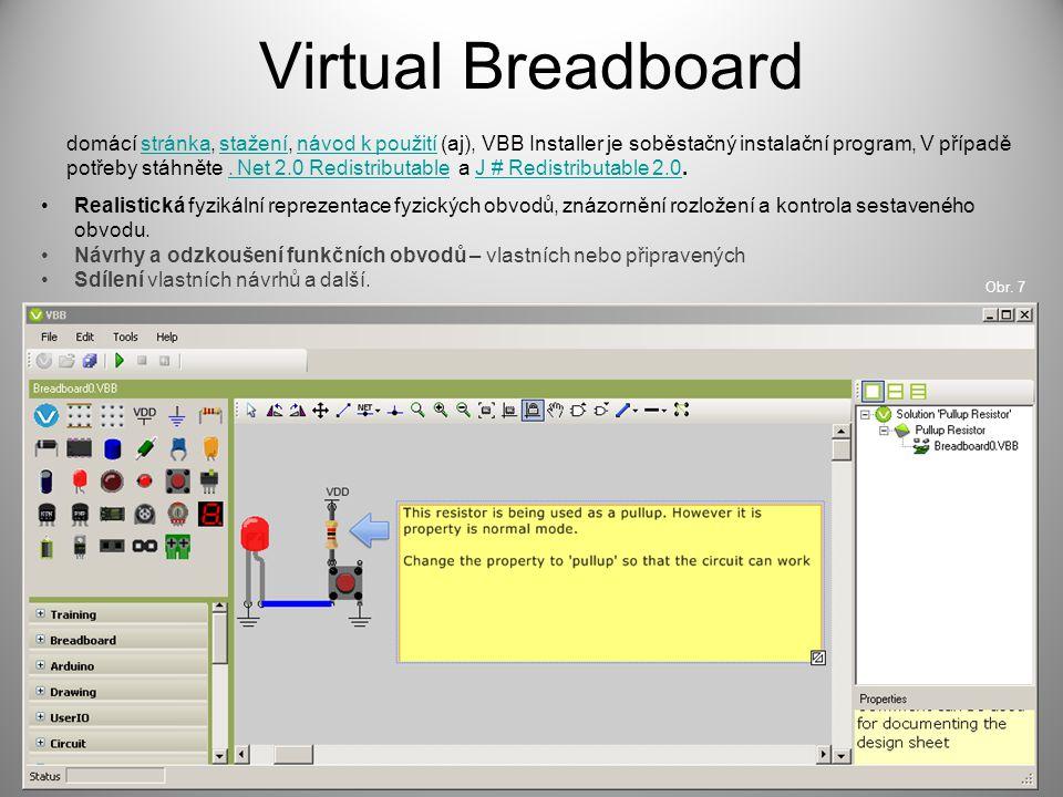 Virtual Breadboard domácí stránka, stažení, návod k použití (aj), VBB Installer je soběstačný instalační program, V případě potřeby stáhněte. Net 2.0