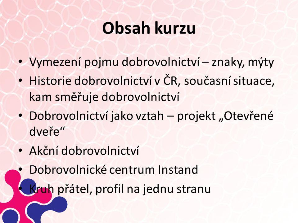 Historie dobrovolnictví v ČR Dobrovolnictví po r.