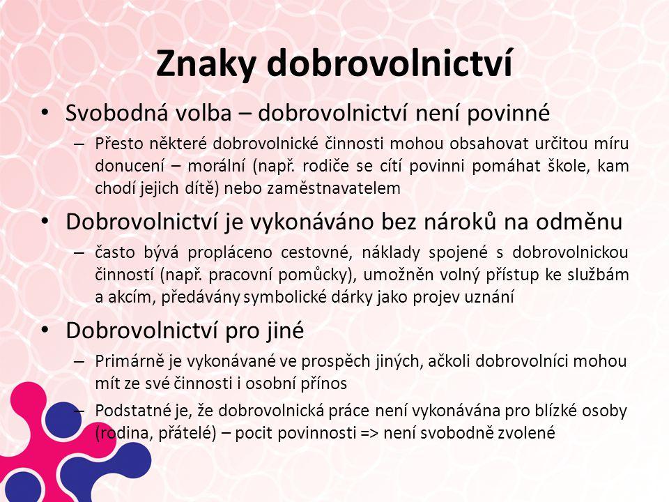 Typologie neziskových organizací v ČR Sledovaný zájem: Zaměření:Vzájemně prospěšnýObecně prospěšný Servisní1.Staré zájmové (servisní) Vzájemně prospěšné -sport, -Rekreace, -Komunitní rozvoj, -Zájmové spolky 2.