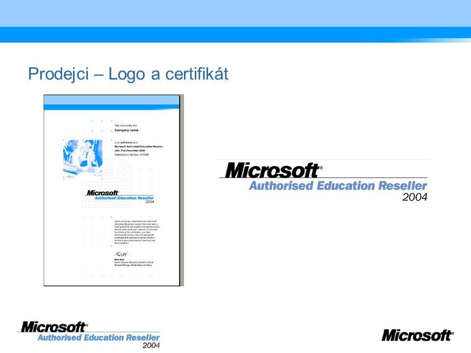 Prodejci – Logo a certifikát