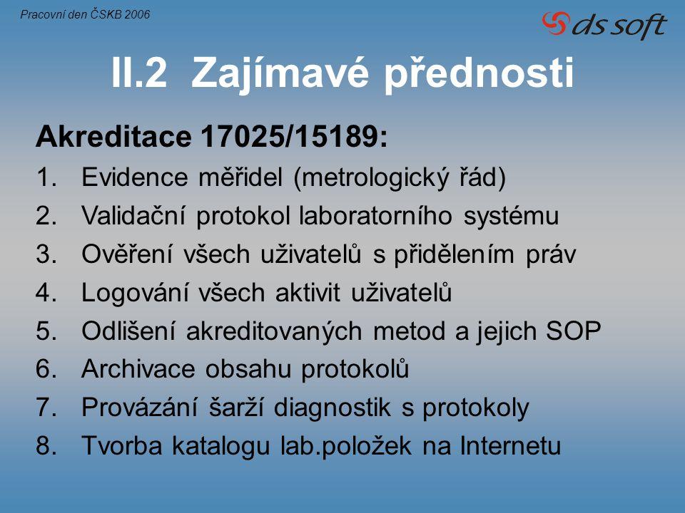 Akreditace 17025/15189: 1.Evidence měřidel (metrologický řád) 2.Validační protokol laboratorního systému 3.Ověření všech uživatelů s přidělením práv 4