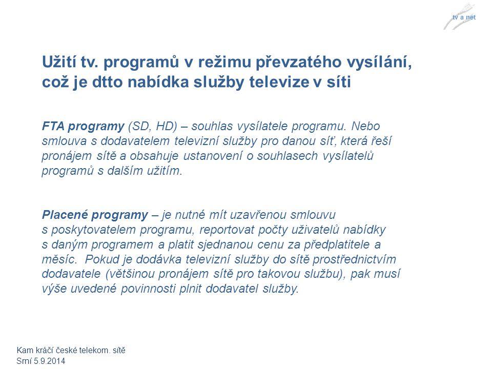 tv a net Předejití problémům spojených s neoprávněným užitím televizních programů operátor nemůže jen tak používat tv.