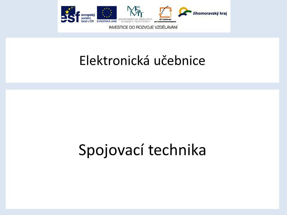 Elektronická učebnice Spojovací technika