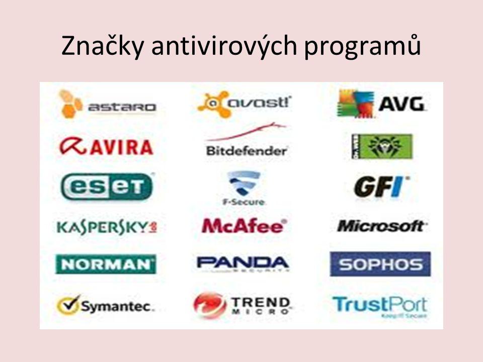 Značky antivirových programů