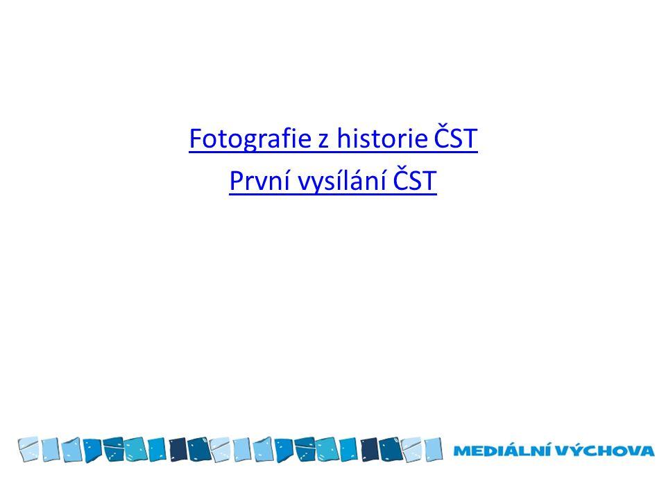 Fotografie z historie ČST První vysílání ČST