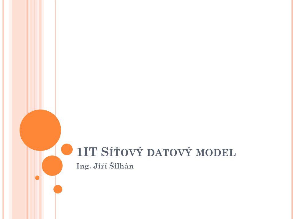 1IT S ÍŤOVÝ DATOVÝ MODEL Ing. Jiří Šilhán