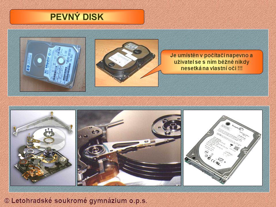 © Letohradské soukromé gymnázium o.p.s. Pevný disk HDD Flash paměť USB Operační paměť (RAM) ZÁKLADNÍ SCHEMA OSOBNÍHO POČÍTAČE DVD (CD) D: Pracovní plo