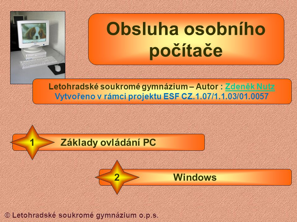 © Letohradské soukromé gymnázium o.p.s. Zobrazení Ikony nebo podrobnosti