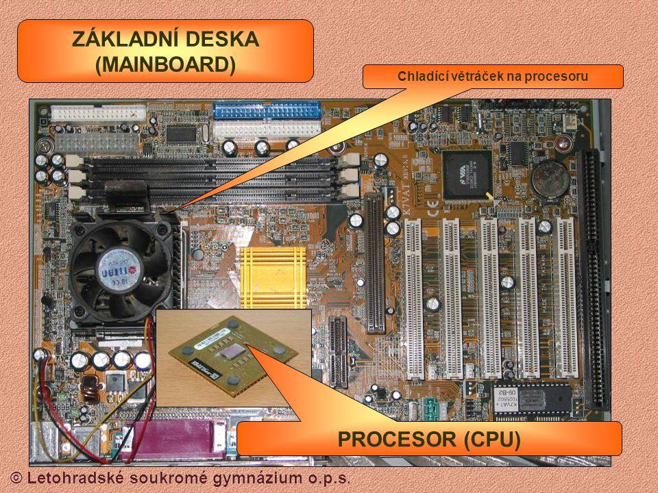 © Letohradské soukromé gymnázium o.p.s. OPERAČNÍ PAMĚŤ RAM Pro starší počítače typu SIMM Pro novější počítače typu DIMM
