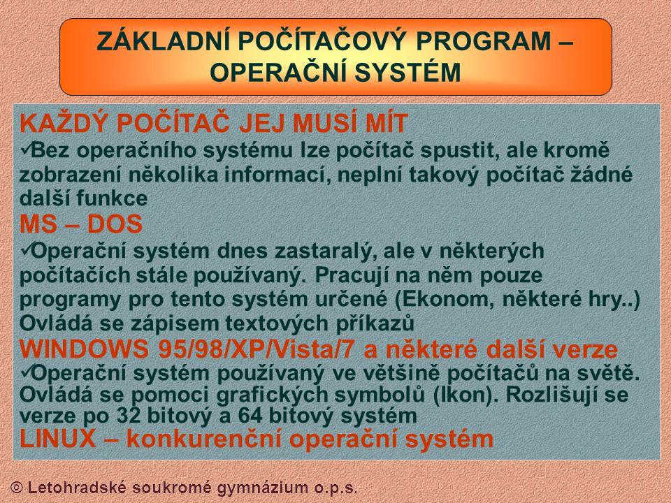 © Letohradské soukromé gymnázium o.p.s.KLÁVESNICE 1.