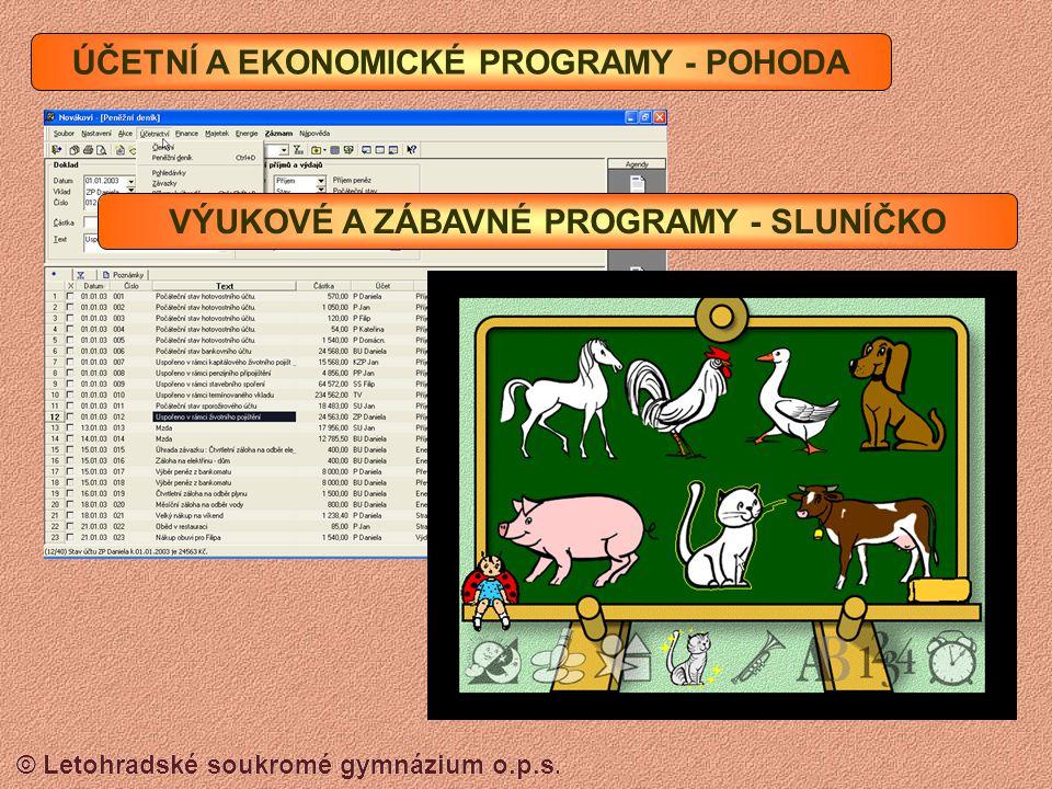© Letohradské soukromé gymnázium o.p.s. POŠTOVNÍ PROGRAMY - OUTLOOK EXPRES ZVUKOVÉ A VIDEO PROGRAMY - MEDIA PLAYER