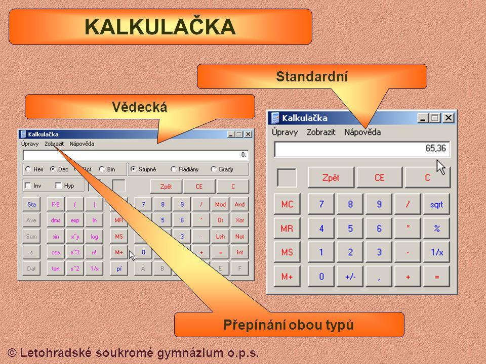 © Letohradské soukromé gymnázium o.p.s. Panel nástrojů MALOVÁNÍ Panel barev
