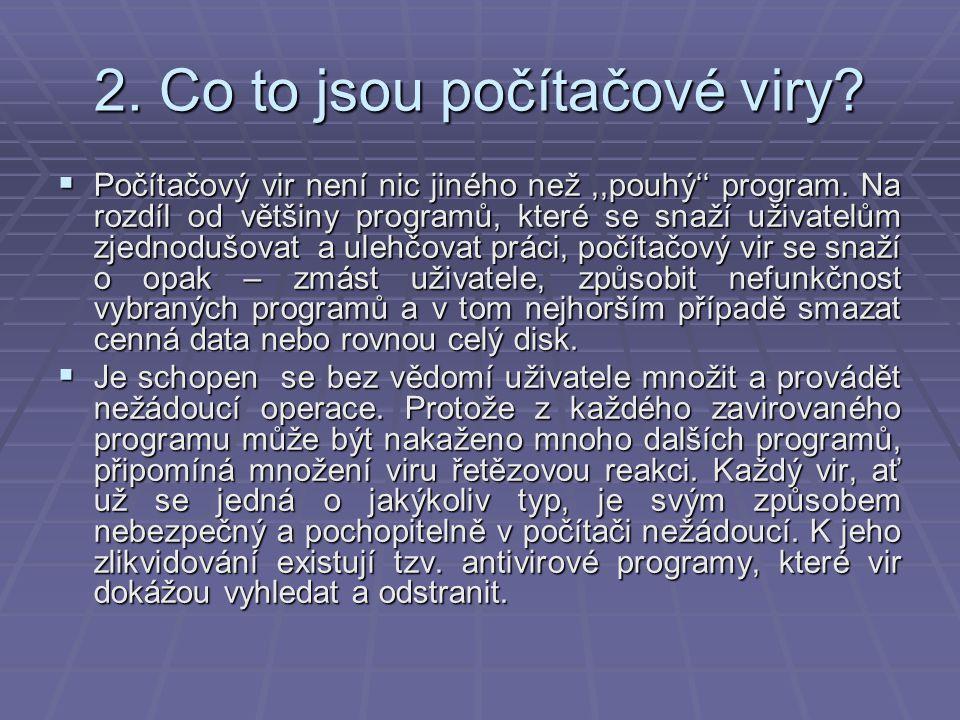 3.Historie virů  V roce 1983 sestrojil Dr.