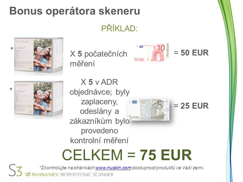 Bonus operátora skeneru Skenerové bonusy budou nájemci skeneru vyplaceny i v případě, že jeho/její skener byl použit pro jiné skenerové operace.