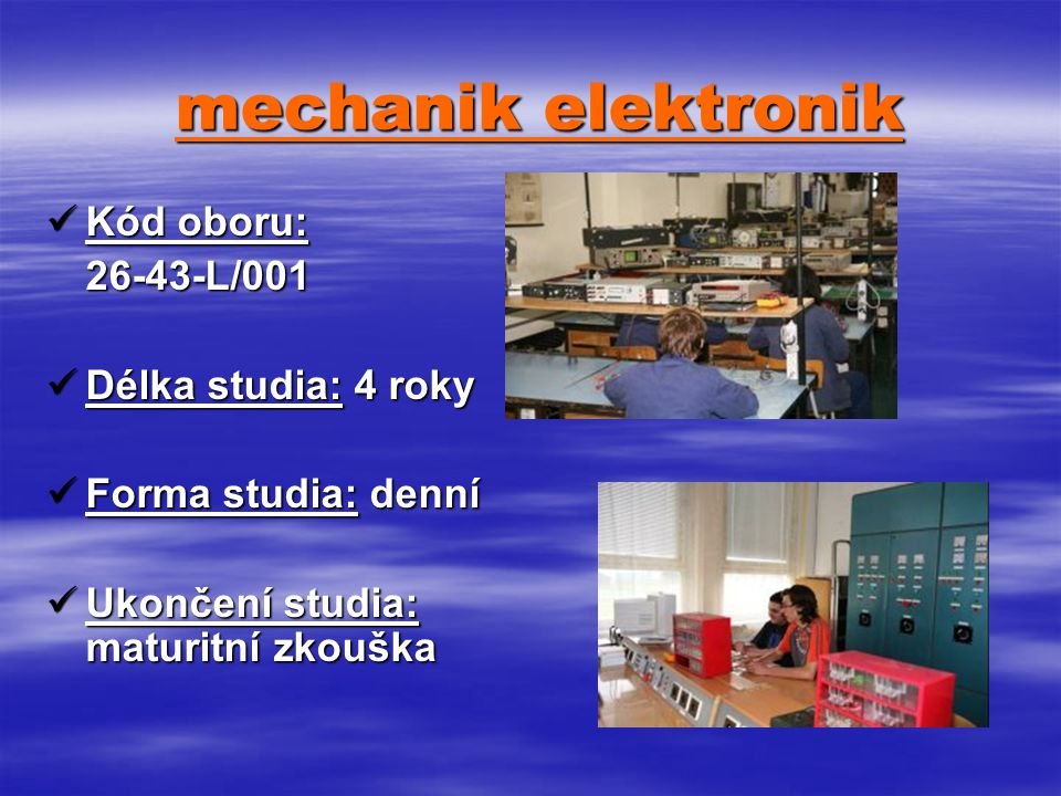 mechanik elektronik