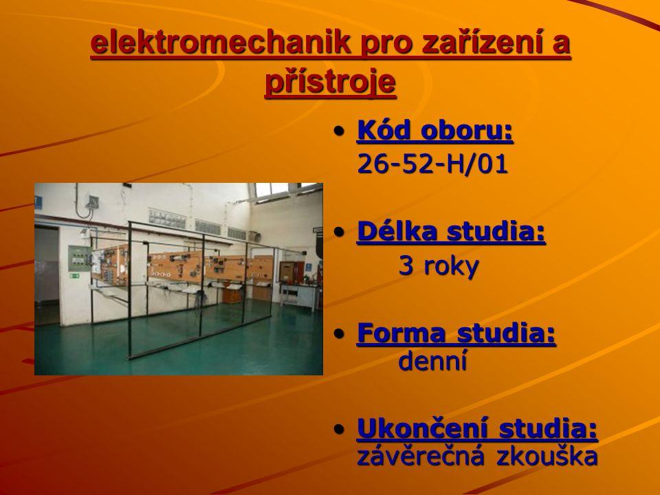 elektromechanik pro zařízení a přístroje