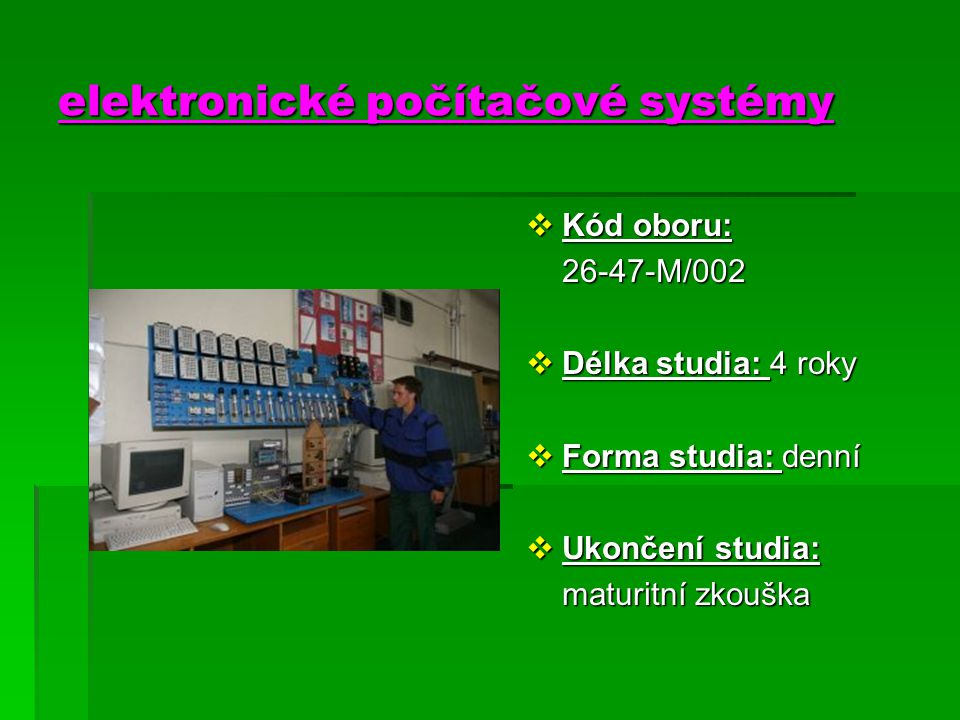 elektronické počítačové systémy