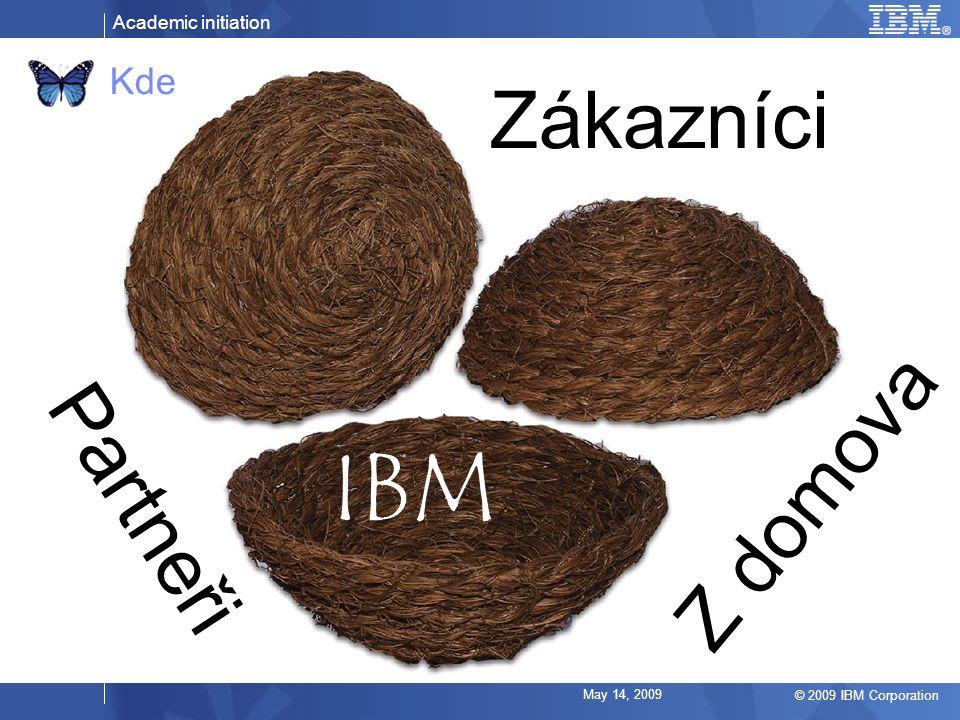 Academic initiation © 2009 IBM Corporation May 14, 2009 Kde IBM Zákazníci Partneři Z domova